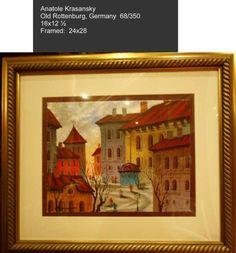 Anatole Krasnyansky 'Old rottenberg Germany' serigraph