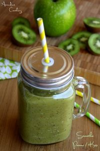 Smoohtie pomme / kiwi pour faire le plein de vitamines !