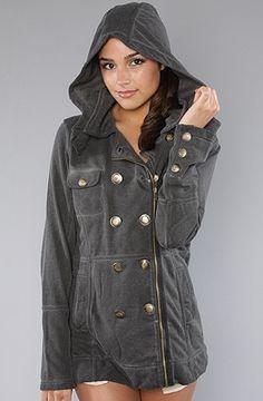 The Winchester Zip Fleece Jacket in Cinder by Hurley | Karmaloop.com - Global Concrete Culture - StyleSays