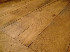 early American stained pine wood floors