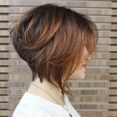 20 Popular Messy Bob Haircuts We Love Stacked Bob HairCut Side View – Easy Everyday Hairstyles for Short Hair 2016 Easy Everyday Hairstyles, Prom Hairstyles For Short Hair, Wedge Hairstyles, Modern Bob Hairstyles, Stacked Bob Hairstyles, Formal Hairstyles, Medium Hairstyles, Natural Hairstyles, Easy Hairstyles