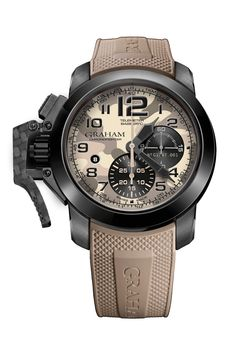 The brand now has a stronger presence in the UK after it set up a London-based subsidiary, Graham 1695, which is dedicated to making itswatches more readily available hereand improving its after-sales service.  Watch of the collection Camo is back, and seems to work rather well on Graham's Chronofighter Oversize Black Arrow, available in a variety of undercover colour schemes. We favour the smart beige-based interpretation. £4,860. graham1695.com