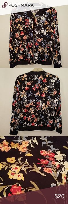 Selling this Floral track jacket on Poshmark! My username is: beijostiffany. #shopmycloset #poshmark #fashion #shopping #style #forsale #Jackets & Blazers
