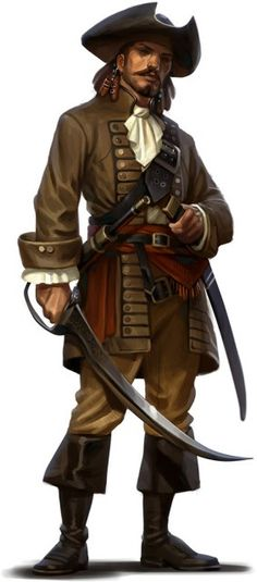 An Islander fleet Captain. Most of the inhabitants of the archipelago are once or future sailors, and they welcome anyone with good sea legs, a head for trade or naval battle skills.