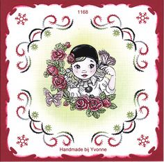 YBB 1168 Pierrot Pierrot, Paper Embroidery, Christmas Time, Decoupage, Creations, Card Making, Scrap, Clip Art, Christian
