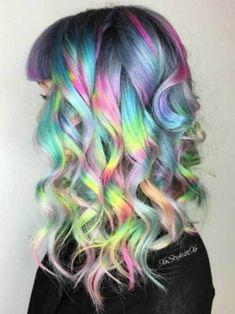 Trend Alert: 15 Holographic Hair Colors for Long Hair: #5. Unique Holographic Color Hair