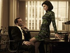 Pin for Later: The Bold Costumes on Mad Men Are the Reason Why We Already Miss the Show Season 5 Don and Megan Draper