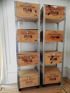 Ideas For Vintage Crate Diy Shelves Ideas For Vintage Crate Diy Ideas For Vintage Crate Diy Shelves Wine Box Shelves, Crate Shelves, Pallet Shelves, Crate Storage, Record Storage, Storage Bins, Glass Shelves, Metal Shelves, Shelf Brackets