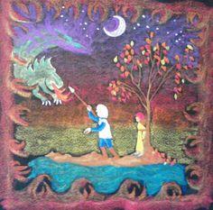 St. George & The Dragon Chalkboard Drawing