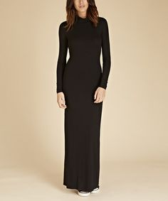 Another great find on #zulily! Caviar Black Westbourne Maxi Dress #zulilyfinds