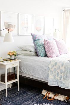 Colorful bedroom | lark & linen