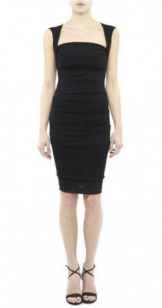 Nicole Miller - felicity stretch jersey dress - classic, elegant, sexy - square neckline