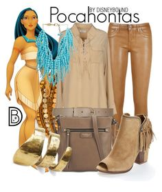 """Pocahontas"" by leslieakay ❤ liked on Polyvore featuring Chan Luu, Disney, Equipment, Rosantica, Maison Boinet, Fiorelli, Dolce Vita and TOMS"