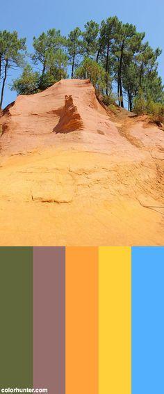 Ochre+Rocks+In+Roussillon+Color+Scheme