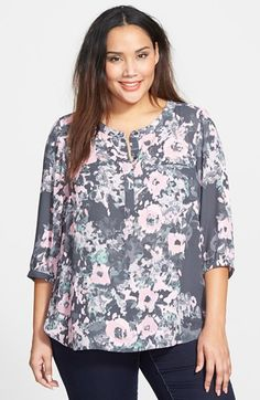 NYDJ Henley Top (Plus Size) available at #Nordstrom
