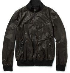 Bottega Veneta Washed Leather Jacket   MR PORTER