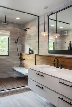 Ceiling lights are particularly practical in the bath: They save space, provide ample overhead lighting, and work in any space whether big or small. Here are a few bathroom light fixture ideas. Bathroom Ceiling Light, Bathroom Light Fixtures, Ceiling Lights, Bathroom Ceilings, Beautiful Bathrooms, Modern Bathroom, Master Bathroom, Small Bathroom, Bathroom Ideas