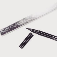 """HOOT! The #nightowl precision eyeliner pen in the color """"HAUNTED"""" was RELEASED LAST NIGHT! There is a release AND question/answer video up on @youtube .com/MADEYEWLOOK NOW!! There is also a direct link in my bio on where to purchase the liner!  COMMON QUESTIONS: Vegan, cruelty free, we do ship internationally, only available on madeulookbylex.com ️ $18  If you have a channel, social media, or even want to leave a comment, once you receive your order and have used it for a bit, please be sure to post a review or let me know how much you love it!  If you have any questions that HAVE NOT already been answered in the video, please feel free to ask me! As of right now, we have a large volume of orders (thank you!!) and we are working as fast as we can to pack and ship. YES, I do pack all the orders myself with my family  #madeyewlook #nightowleyeliner #hauntedeyeliner"""