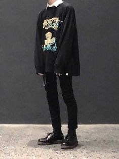 115 ways to look stylish wearing grunge outfits page 14 Goth Outfit, Outfit Chic, Edgy Outfits, Grunge Outfits, Fashion Outfits, Edgy School Outfits, Fashion Fashion, Fashion Tape, Hipster Outfits