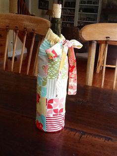 30-Minute Gift:  Patchwork Wine Bag ~ Moda Bake Shop