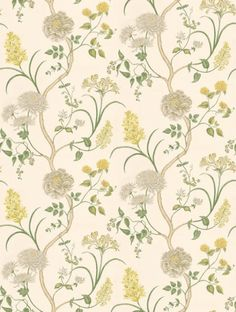 Summer Tree, a feature wallpaper from Sanderson, featured in the A Painter's Garden collection.