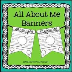 Free All About Me Banners!