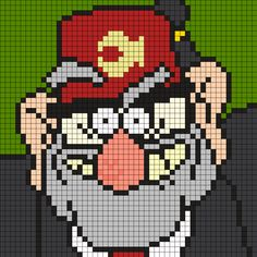 Grunkle Stan From Gravity Falls Square by Maninthebook on Kandi Patterns