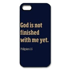 Custom Bible Verse Hard Back Cover Case for iPhone 5/5s OB-1610 on InStores