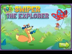 [HD] 도라 더 익스플로러 스와이퍼 로보트 퇴치#1 Dora the explorer Swiper game nickelodeon ...