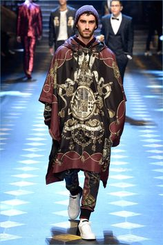 Dolce & Gabbana Fall 2017 Menswear Fashion Show Collection: See the complete Dolce & Gabbana Fall 2017 Menswear collection. Look 104 Fashion Show, Fashion Outfits, Mens Fashion, Fashion Tips, Fashion Design, Milan Fashion, Dolce And Gabbana 2017, Vogue, Mens Clothing Styles