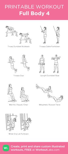 Full Body 4 : my visual workout created at WorkoutLabs.com • Click through to customize and download as a FREE PDF! #customworkout Everyday Beauty Routine, Beauty Routines, Skincare Routine, Mental Training, Strength Training, Weight Training, Printable Workouts, Schedule Printable, Full Body