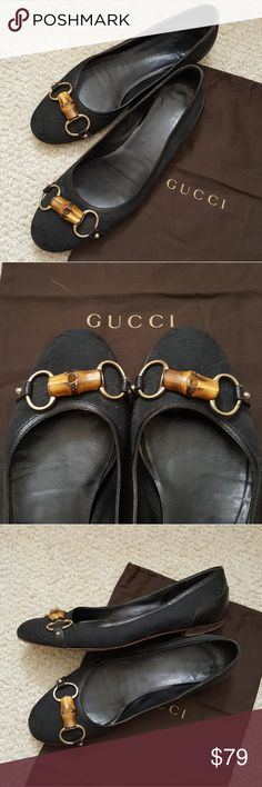 Classic GUCCI Horsebit flats Authentic horsebit Gucci flats. Worn but with a lot more life in them! Gucci Shoes Flats & Loafers