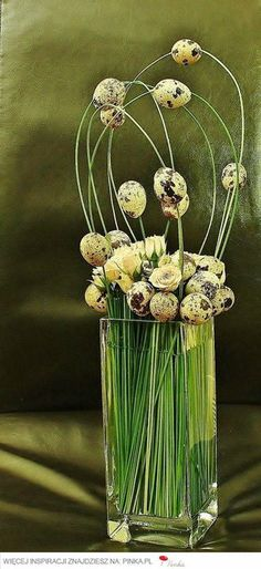 Easter decoration - buttercups with eggs on grass - source?