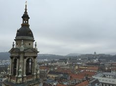 Budapest view from top of the St. Stephen's Basilica