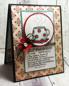 Digital Image - DigiStamp Boutique, Digital Sentiment - Create with TLC, Card Base - Stampin' Up, DP - Cosmo Cricket/Baby Jane 6x6 Other Stuff - ProMarkers, circle nestie, cricut/flower, polka dot embossing folder, burlap string, shimmer pen, a button, foam tape, and white glue.