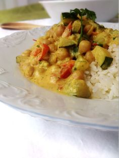 Curry de pois chiches au lait de coco