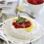 Pavlova with Raspberries and Lemon Curd | Easter Dessert | Good Life Eats