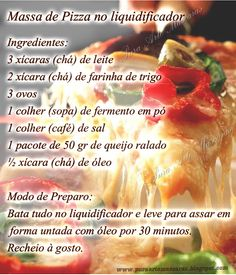 Receita: Massa de Pizza no liquidificador
