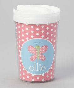 Take a look at this Butterfly Personalized Toddler Cup by Lima Bean Kids on #zulily today!
