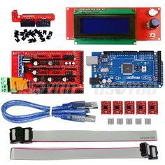Mega2560 Board+Ramps 1.4+ 5*A4988+2004 LCD Controller for 3D Printer Kit RepRap