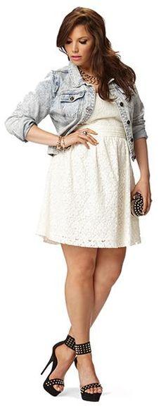 little white dress jean jacket