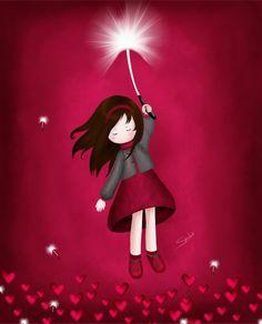 Gorjuss style - Leaving by Seeba via deviantART Santoro London, Make A Wish, Cute Illustration, Belle Photo, Cute Art, Cute Pictures, Little Girls, Decoupage, My Love