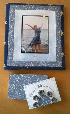 Muistojen kansio ja 50-vuotiskortti