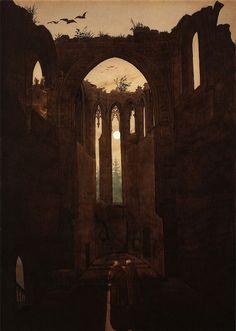 Ruins of the Oybin Monastery, Caspar David Friedrich