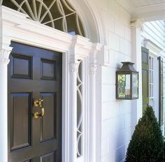 The Front Porch of a New American Colonial House in Nashville  American  Colonial  Entryway by Ken Tate Architect