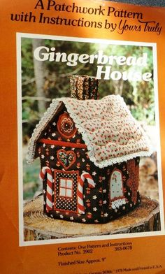 Gingerbread House Applique Quilted Patchwork , Crafts :: Sewing & Fabric :: Quilting :: Bullszi.com