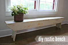 "That's My Letter: ""R"" is for Rustic Bench, diy rustic wood bench with free @knockoffwood plans"