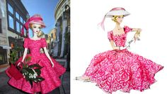 Barbie Calendar, Jan 2017,  pink Garden Dress & Hat