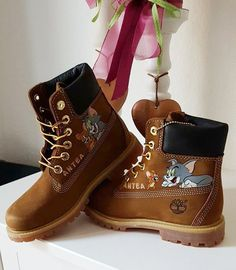 Customized Timberland Boots by notlikeyou :) #disney