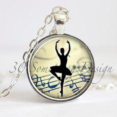 Ballet Necklace Pendant Ballerina Necklace by 30SomethingDesign, $9.25